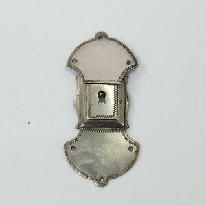 Lock-plate-clasp-antique-Georgian-white-metal-miniature-early-19th-century-2