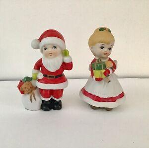 HOMCO-5401-Mr-Mrs-Santa-Claus-Children-Figurines-5-5-034-Christmas-holiday-decor