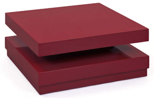 Modern Swivel Coffee Table.Details About Large Modern Marsala Red Square Swivel Coffee Table Rotating Coffee Table