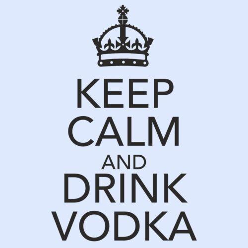 KEEP CALM AND DRINK VODKA cuisine//chambre//Armoire//Porte//Mur Art Autocollant-Large