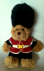 KEEL-TOYS-039-BRITISH-GUARDSMAN-039-SOFT-STUFFED-TEDDY-BEAR-2005-RARE-COLLECTABLE