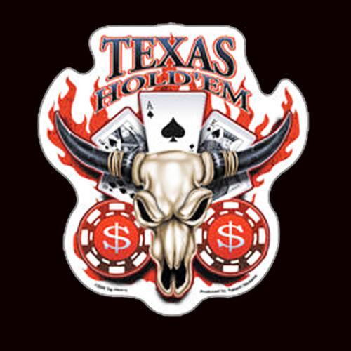 Texas Hold /'Em Bullhead DECAL 5  INCH  DECAL