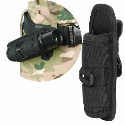 Outdoor Nylon 14cm Black LED Flashlight Cover Torch Holder Case Pouch