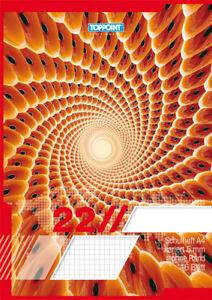 3 Schulhefte DIN A4 Lineatur 26 kariert mit 5mm