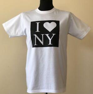 I-Love-New-York-I-Heart-NY-T-Shirt-USA-America-Men-039-s-White-t-shirt