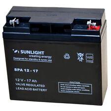 Sunligth AGM-VDS 12Volt 5-Jahres Batterie 17AH Zyklenfest, Wartungsfrei, 12VAkku