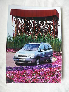 Opel Zafira 1.6 Cng Presse-foto Werk-foto Pressfoto 04/2002 Reich An Poetischer Und Bildlicher Pracht Gewidmet O0010