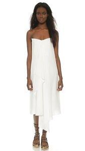 8c8ddb79ba7f New Tibi Strapless towel silk white dress size 6 Market Price ...