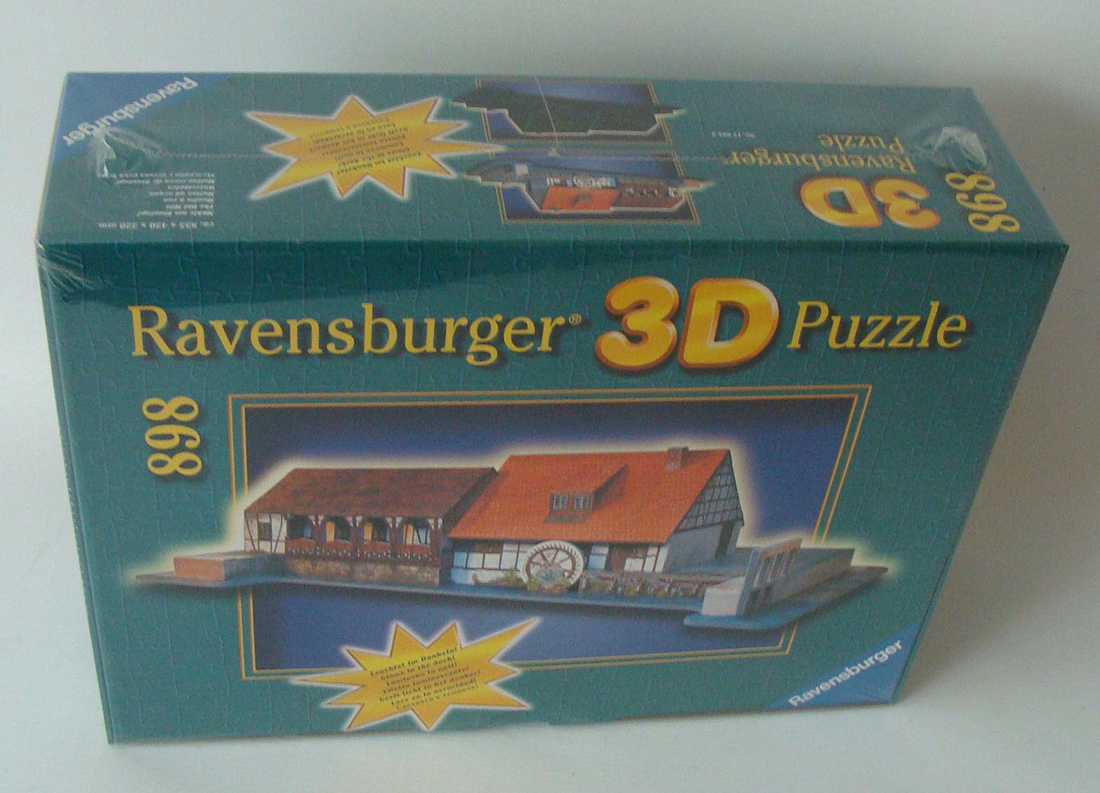 Ravensburger 3D Puzzle 178933 - Mühle am Blautopf 898 Teile 12+ - Neu    Billig ideal