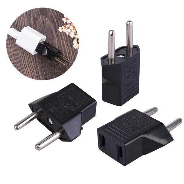2X EU Europe Female to US USA Male Wall AC Power Plug Travel Adapter Converter W