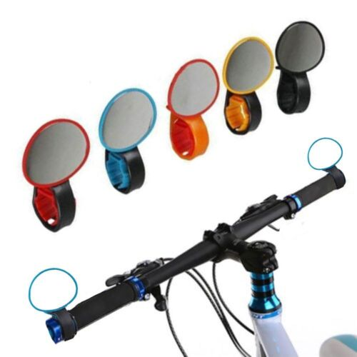 Cycling Handlebar Bike Rearview Mirror Rear View Bicycle Looking Glass
