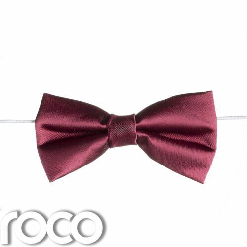 Garçons Bourgogne élastique Dickie Bow Tie Page Garçon Mariage Prom Dickie Bows