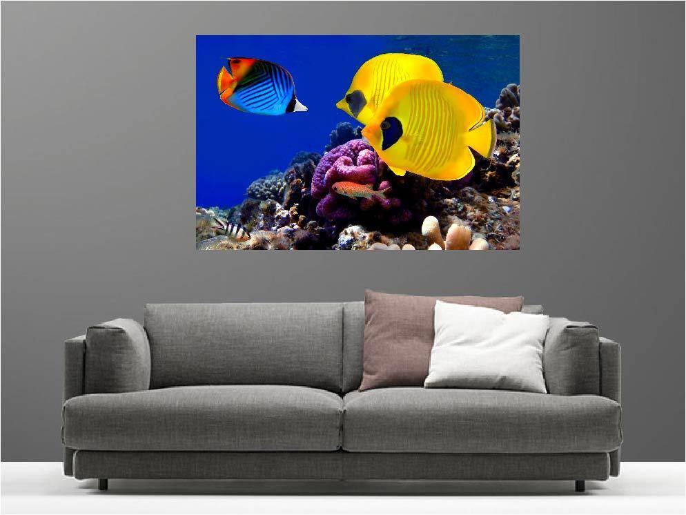 Gemälde Gemälde Deko Set Fische Tropicals Ref 68832754