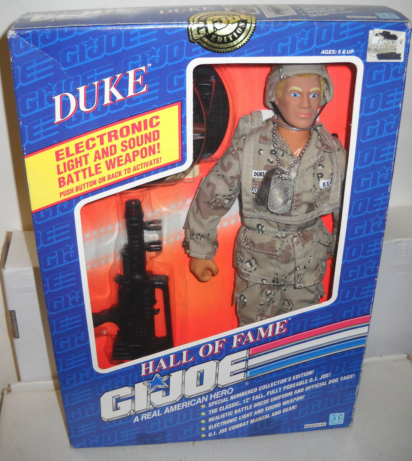 NRFB Hasbro GI JOE Hall of Fame 12  Duke