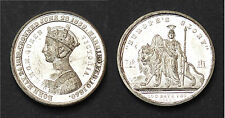 Médaille Grande Bretagne. Exposition de 1851. Victoria Queen.  Métal blanc
