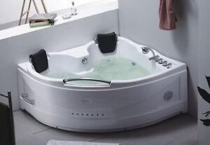VASCA IDROMASSAGGIO DOPPIA da BAGNO 155X155 POMPA whirlpool 2 POSTI ...