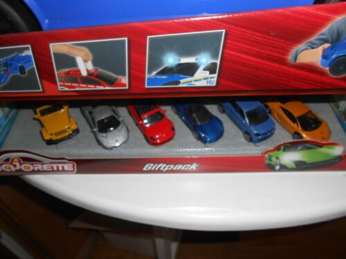 MAJORETTE Giftpack 6 Voitures /& Carry Voiture Police set avec diecast cars neuf