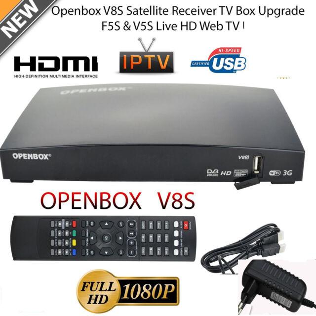 OPENBOX V8S Full HD 1080P Satellite Receiver Freesat PVR TV Box EU-Plug