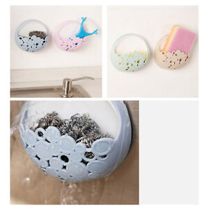Wall-Mounted-Soap-Box-Holder-Bathroom-Storage-Box-Drain-Soap-Dish-Sucker-SI