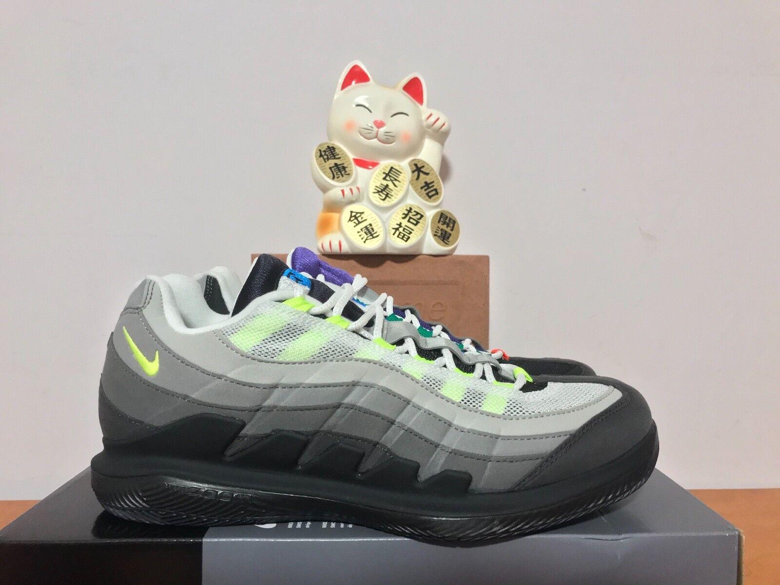 Nike Zoom Vapor RF Roger Federer x AM 95 Greedy [AO8759-077] Black Volt New 8.5 [AO8759-077] Greedy 4a1fb4