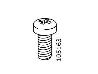 4x Ikea MRX Screws M6 Furniture