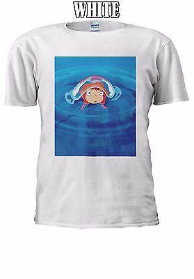 Ponyo Sulla Scogliera Gake No Ue 崖の上のポニョ No Ponyo T-shirt Canotta Canottiera Uomini Donne Unisex 2522-mostra Il Titolo Originale