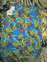 Hollister Soft Beach Boxers Xl Plants Blue And Greens