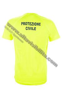 T-SHIRT-TECNICA-GIALLA-TRASPIRANTE-MAGLIETTA-PAYPER-PROTEZIONE-CIVILE-STAMPA