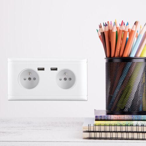 Prise de courant murale avec double port USB Prise de Courant Murale Encastrer