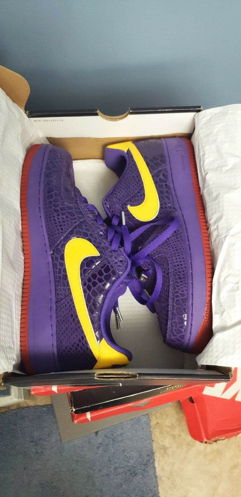 NIKE EDDIE CRUZ AIR FORCE ONE LOW WEST LAKERS SIZE 10