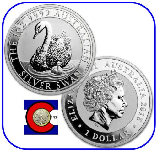 2018 Australia Silver Swan 1 oz Coin BU direct from Perth Mint roll