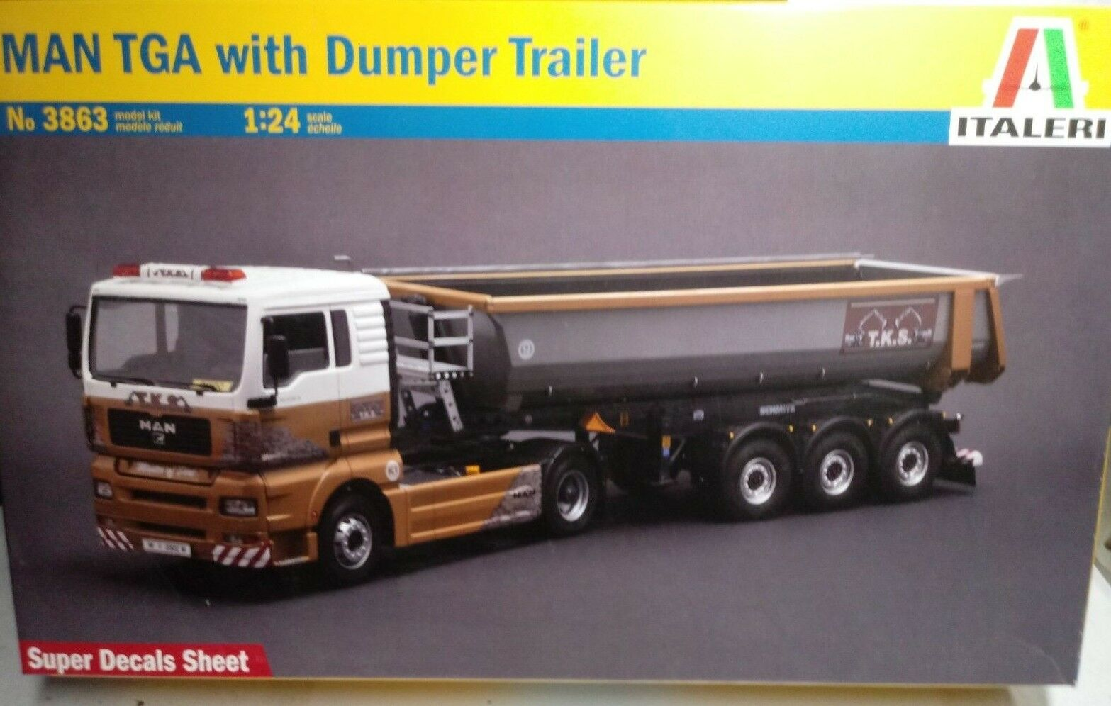 MAN TGA WITH DUMPER TRAILER ITALERI 1 24