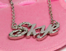 Name Necklace SKYE - 18ct White Gold Plated - Personalised Christmas Gift Ideas
