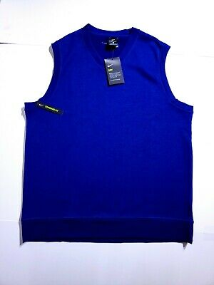 Nike Golf Dri-Fit Pull Over Sweater Vest Blue AV5225 492 Mens SZ Medium New  $80 192499950475 | eBay