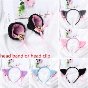 Club Bar Plush Cat Ear Head Band Hair Accessories Small bell Cartoon Hair Band