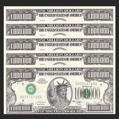 STATUE OF LIBERTY Lot 5 PCS USA States 1000000//1 Million Dollar SOUVENIR UNC