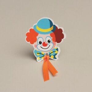 éNergique Lot De 12 Vignettes Clown Sans Ruban Mariage Bapteme Communion