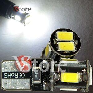 2-LED-T10-Lampade-6-SMD-5630-Canbus-Bianco-No-Errore-Luci-Posizione-Xenon-Targa
