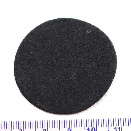 Almohadillas de Fieltro Redonda 100PC Negro Tela Flor /& Broche de vuelta no tejida círculos