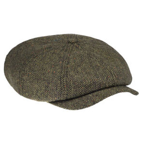 be2d6de9907 Dickies Tucson Flat Cap - Green Tweed for sale online