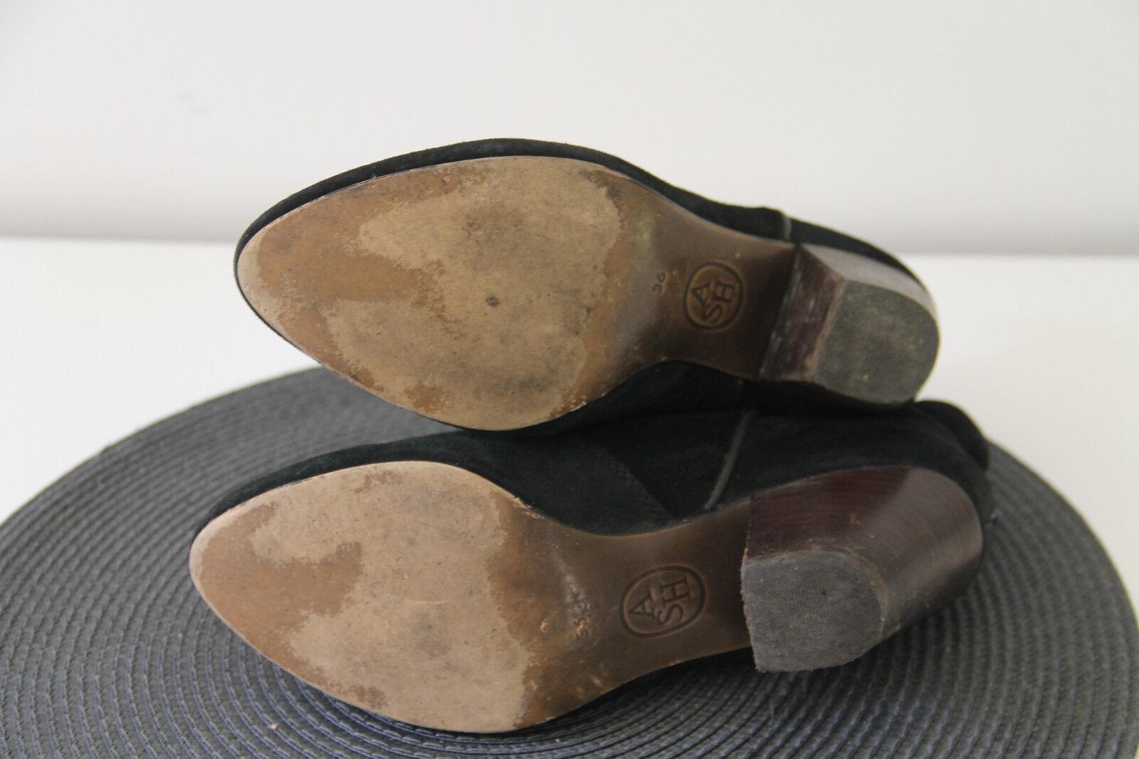 Carini stivali in pelle scamosciata nero ASH taglia 36 in in in perfette condizioni | Rifornimento Sufficiente  | Uomo/Donne Scarpa  18d093