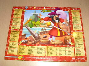 Almanach du Facteur 2008 (Tarn-81) Disney Peter Pan - Le livre de la jungle Q3am1EEY-09122036-621476428