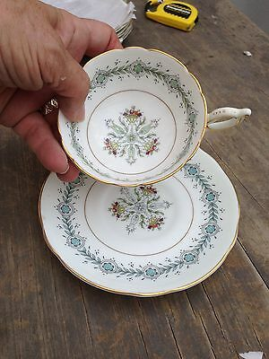 Coalport GENEVA (Athens shape) single footed/pedestal cup with saucer