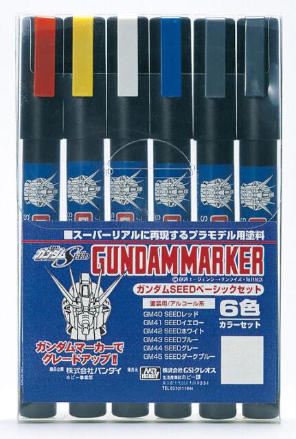 3PCS GUNZE GUNPLA USA SELLER HOBBY #GMS-201 GUNDAM MARKER LAME PEARL SET 1 MR
