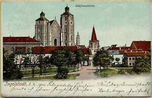 2033: Postkarte Ansichtskarte Ingolstadt Liebfrauenkirche 1901 nach Uffenheim