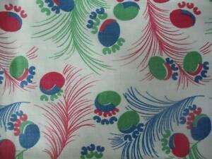 Vintage-1930-039-s-Feedsack-Cotton-Fabric-Art-Deco-Pattern-1-Yd-L-38-034-W