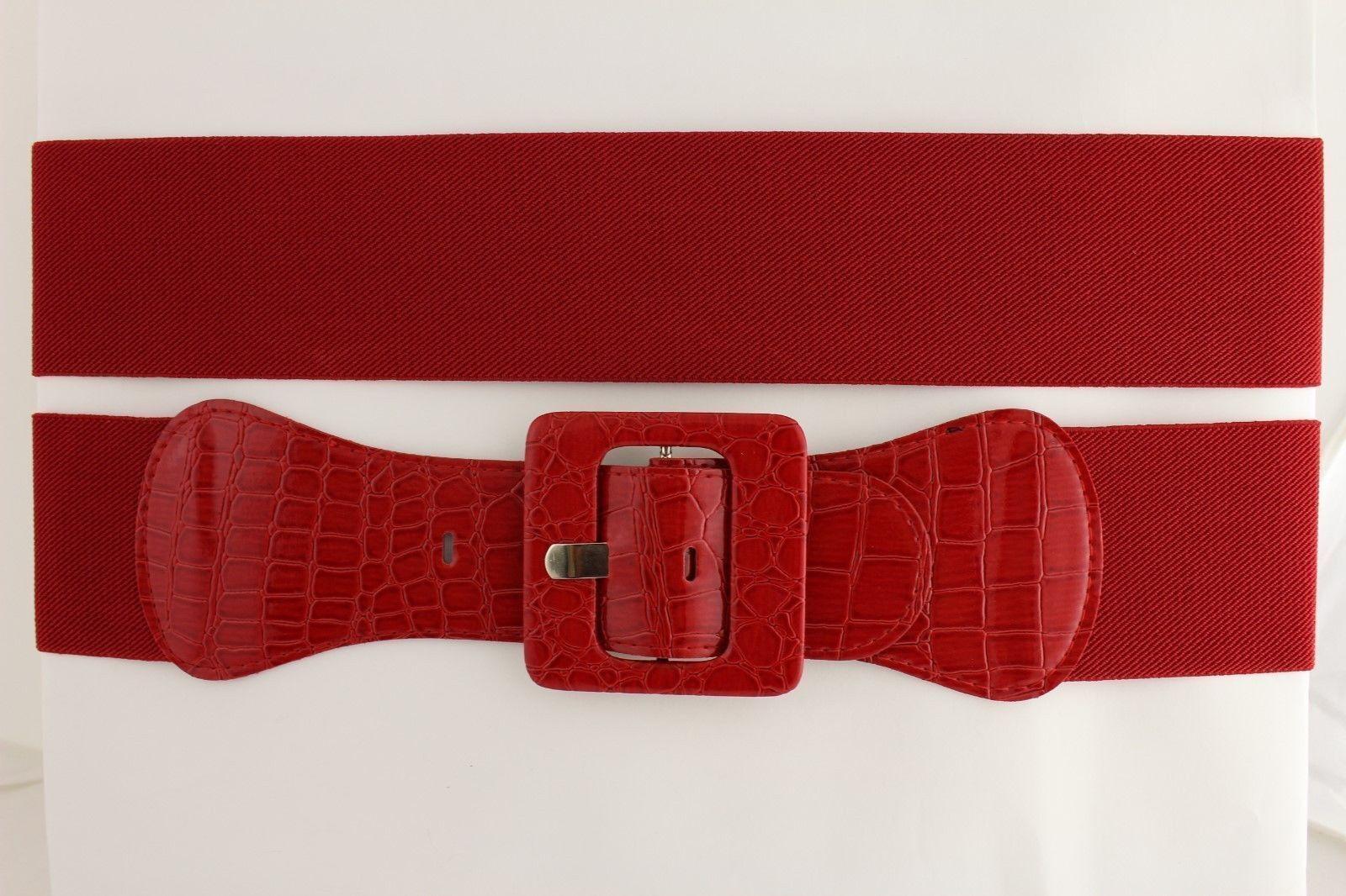 Sexy Women Hip High Waist Elastic Waistband Belt Casual Fashion Look Red M L XL