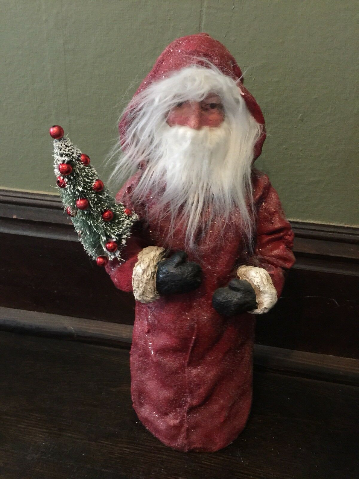 Pottery Barn Vintage Nostalgic Santa Claus Christmas