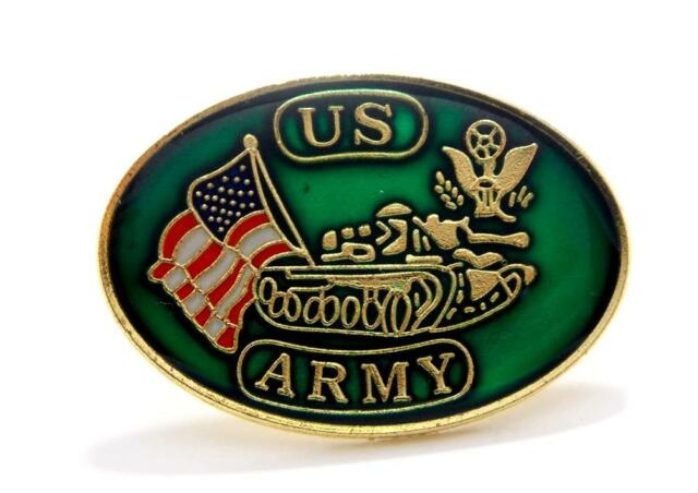 US Army Round Insignia Logo Lapel Hat Pin Gift Brass PPM012