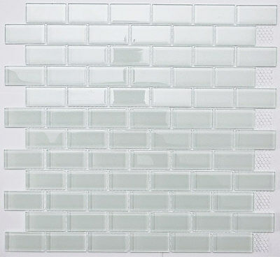 White Subway Glass Mosaic Tile for Bathroom, Kitchen, Backsplash 22 sq ft box